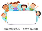 illustration of kids peeping... | Shutterstock . vector #529446808