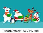 Set Of Christmas Characters...