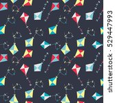 kite seamless pattern...   Shutterstock . vector #529447993