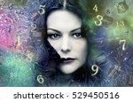 numerology  destiny figures | Shutterstock . vector #529450516