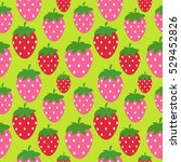 simple strawberry seamless... | Shutterstock . vector #529452826