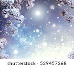 Winter Holiday Snow Background...