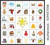 christmas icons set. christmas... | Shutterstock .eps vector #529457548