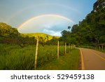 Double Rainbow And Landscape O...