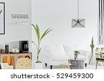 white living room with sofa and ... | Shutterstock . vector #529459300