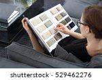 arranging home shopping... | Shutterstock . vector #529462276