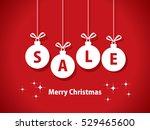 christmas balls sale | Shutterstock .eps vector #529465600