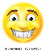 cartoon emoji emoticon smiling... | Shutterstock .eps vector #529469974
