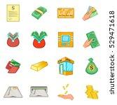 bank loan credit icons set....   Shutterstock .eps vector #529471618