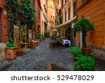 View Of Old Cozy Street In Rom...