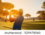 golf player hitting shot with... | Shutterstock . vector #529478560