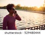 silhouette of man standing... | Shutterstock . vector #529480444