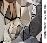 randomly scattered triangles of ... | Shutterstock .eps vector #529481506