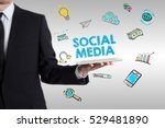 social media concept with young ... | Shutterstock . vector #529481890