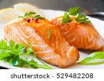 Delicious Golden Cooked Salmon...