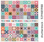 patterns set with arabic... | Shutterstock .eps vector #529485988