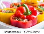 stuffed peppers | Shutterstock . vector #529486090