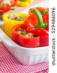 stuffed peppers | Shutterstock . vector #529486096