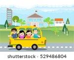 illustration of school kids... | Shutterstock .eps vector #529486804