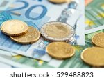 Money Euro Coins And Banknotes...