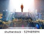 rear view of a businessman... | Shutterstock . vector #529489894