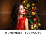 christmas santa. beautiful... | Shutterstock . vector #529492759