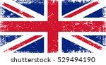 grunge uk flag.vintage great... | Shutterstock .eps vector #529494190