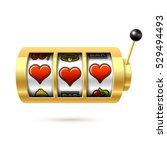 three lucky heart symbols on... | Shutterstock .eps vector #529494493