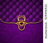 Elegant Golden Shield With Gol...