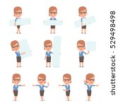 set of smart and cute character ...   Shutterstock .eps vector #529498498