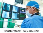 interventional cardiology. male ... | Shutterstock . vector #529502320