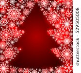 snowflake frame in the form of... | Shutterstock .eps vector #529505008