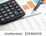 graphics calculator and pen | Shutterstock . vector #529506928