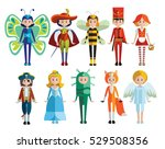 kids and carnival costumes... | Shutterstock .eps vector #529508356