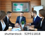 business training at office ... | Shutterstock . vector #529511818