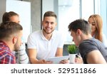group of young designers making ... | Shutterstock . vector #529511866
