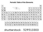 periodic table of the elements... | Shutterstock .eps vector #529513303
