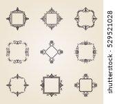 a huge rosette wicker border... | Shutterstock .eps vector #529521028