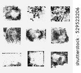 set of grunge frames vector | Shutterstock .eps vector #529523206