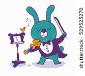 character musician funny bunny...   Shutterstock .eps vector #529525270