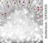 decorative christmas background ... | Shutterstock . vector #529526533