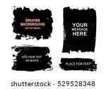 set of black paint  ink brush... | Shutterstock .eps vector #529528348