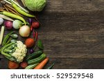 fresh farmers market fruit and... | Shutterstock . vector #529529548