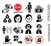 corruption  no bribes and... | Shutterstock .eps vector #529531300