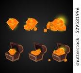 cartoon icons crystals...