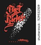 dirt rider motocross freestyle...   Shutterstock .eps vector #529532509