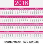 calendar 2016 simple style... | Shutterstock .eps vector #529535038