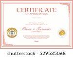certificate retro design... | Shutterstock .eps vector #529535068