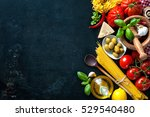 italian cuisine. vegetables ... | Shutterstock . vector #529540480