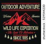 wild life expedition  outdoor... | Shutterstock .eps vector #529544230